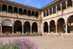 Inner courtyard of the Convent of Santo Domingo, Cusco Stock Photo