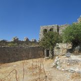 The inner courtyard of the Crusader fortress in northern Cyprus, the 13th century. stock photography