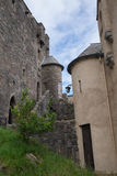Inner courtyard of Eilean Donan Castle, Scotland Royalty Free Stock Image