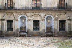Inner courtyard of El Escorial Stock Photos