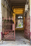 Inner courtyard entrance on Lipscani street Stock Images