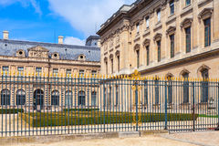 Inner courtyard and exterior of The Louvre Museum, France Stock Image