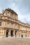 Inner courtyard and facade of The Louvre Museum Stock Photography