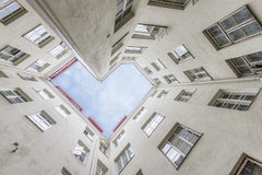 Inner Courtyard. Heart shaped inner courtyard in Old Town of Tallinn, Estonia Royalty Free Stock Image