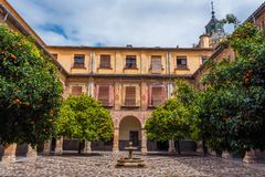 Inner courtyard of Hospital San Juan De Dios 5 stock photography