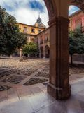 Inner courtyard of Hospital San Juan De Dios 12 royalty free stock image