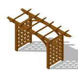 Inner courtyard isometric pergola stock photos