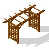 Inner courtyard isometric pergola stock images