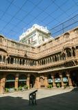 Inner courtyard in the Junagarh Fort Stock Photos