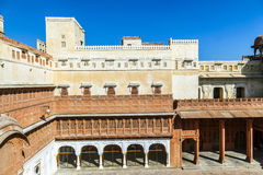 Inner courtyard in the Junagarh Fort Royalty Free Stock Images