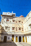 Inner courtyard in the Junagarh Fort Royalty Free Stock Photo