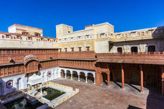 Inner courtyard in the Junagarh Fort Stock Photography