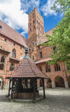 The inner courtyard Malbork castle Royalty Free Stock Photos