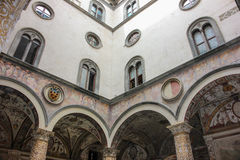 Inner courtyard of Medici Palace, Florence Royalty Free Stock Images