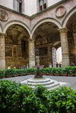 Inner courtyard of Medici Palace, Florence Stock Photo