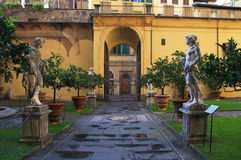 Inner courtyard of Medici Riccardi Palace. Florence, Italy Stock Photography