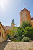 The inner courtyard of the Mikulov castle Stock Images
