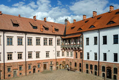 Inner courtyard of the Mir Castle, Belarus Stock Images