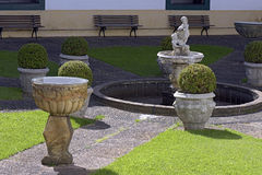 Inner courtyard of the Monastery of the Luz Stock Photo