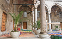 Inner courtyard of the New Mosque (Yeni Cami) Istanbul Stock Photos