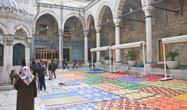 Inner courtyard of the New Mosque (Yeni Cami) Istanbul Royalty Free Stock Photo