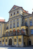 Inner courtyard of Nyasvizh castle. In Belarus Royalty Free Stock Photography