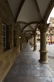 Inner courtyard of the Old Castle 10th century Royalty Free Stock Photo