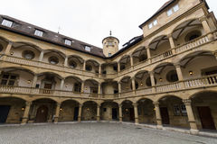 Inner courtyard of the Old Castle 10th century Royalty Free Stock Image