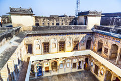 Inner courtyard of an old Haveli in Mandawa Stock Photography