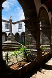 The inner courtyard in the old monastery Stock Photos