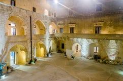 Inner Courtyard of the Otranto Castle, Salento, Italy Royalty Free Stock Image