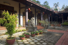 Inner courtyard of the pagoda in the Marble mountains. Da Nang Stock Photos