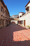 . The inner courtyard paved with red marble Stock Image