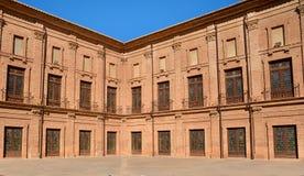 Inner courtyard of Royal Monastery El Puig, Spain Royalty Free Stock Images