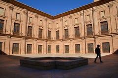 Inner courtyard of Royal Monastery El Puig, Spain Stock Photo