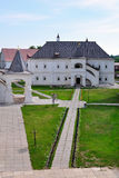 Inner courtyard of Ryazan Kremlin, Russia Royalty Free Stock Photos