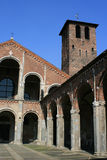 Inner courtyard - SantAmbrogio church - Milan - Italy Royalty Free Stock Photos