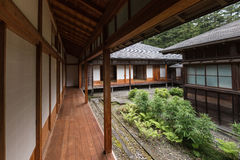 Inner courtyard at Tamozawa Imperial Villa in Nikko Stock Image