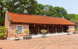Inner courtyard in Temple of Literature (circa 1070). Hanoi Royalty Free Stock Photo