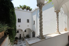 Inner courtyard of the Villa San Michele Stock Photo