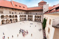 The inner courtyard of the Wawel Castle in Krakow Royalty Free Stock Photo