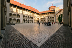 The inner courtyard of the Wawel Castle in Krakow, Renaissance Royalty Free Stock Photography