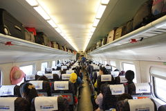 The inner CRH. The inner carriage of the CRH royalty free stock images