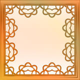 Inner decorated baroque bronze square frame vector Royalty Free Stock Image