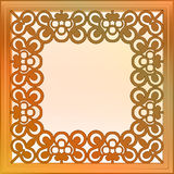 Inner decorated  bronze square frame Stock Photos