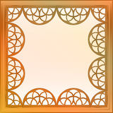 Inner decorated vector baroque bronze square frame Stock Images