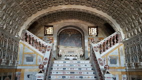 Inner detail of Santa Maria Cathedral in Cagliari, Sardinia Italy Stock Photography
