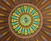Inner dome design. Inner dome of the State of Illinois Capitol building in Springfield Stock Images