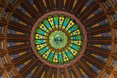 Inner dome. From the rotunda floor of the Illinois State Capitol building in Springfield, Illinois Royalty Free Stock Photos