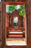 Inner Doorway Banteay Srei temple Stock Images